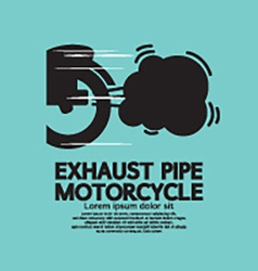 Exhaust Pipe Motorcycle vector
