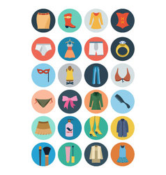 Fashion Flat Icons 2 vector