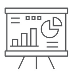 financial analysis thin line icon finance banking vector image