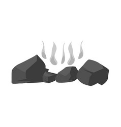 Firewood and bonfire icon vector