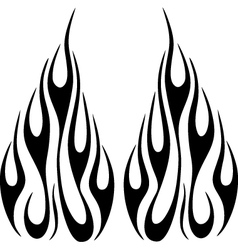 flames6 vector image