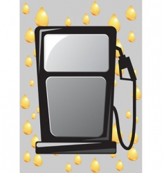 gas pump nozzle vector image