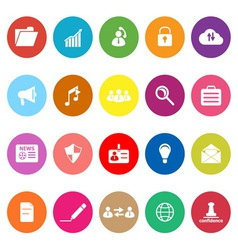 General document flat icons on white background vector