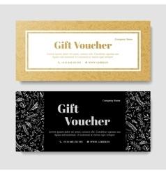 Gift premium voucher coupon template vector