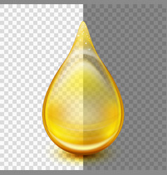 Golden oil droplets eps 10 vector