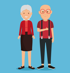 grandparents couple avatars characters vector image