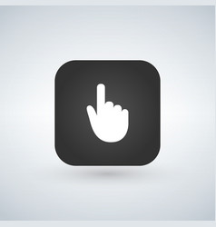 hand cursor symbol over application button modern vector image