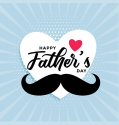 Happy fathers day cute card design background vector
