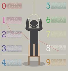 Infographics effects stress stickman ar vector