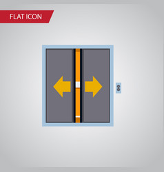 Isolated elevator flat icon lobby element vector