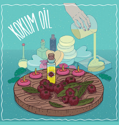 Kokum oil used for soap making vector
