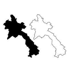 laos map vector image