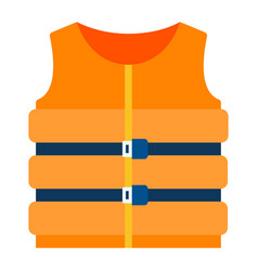 life vest icon flat isolated vector image