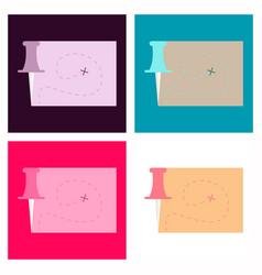 location map flat design icon vector image