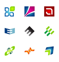logo design elements set 78 vector image