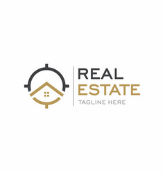 luxury real estate logo design vector image