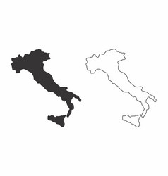 maps of italy vector image