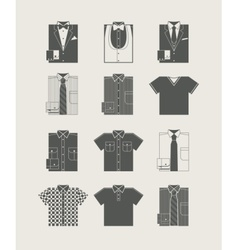 Menswear Icon set vector image