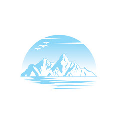 Mountain lanscape logo image vector