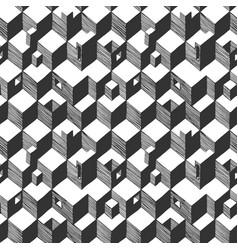 Optical illusion pattern vector