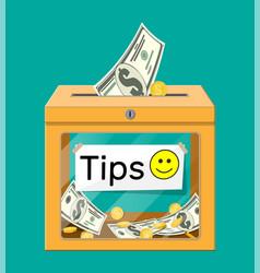 orange tip box full cash vector image
