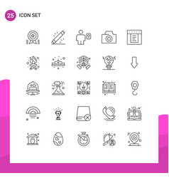 Pack 25 creative lines dropdown photo vector