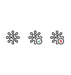 pathogenic viruses causing icons set editable line vector image
