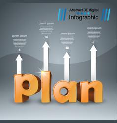 Plan 3d business infographics vector