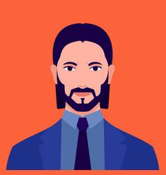 portrait a man vector image