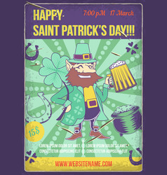 poster design with st patrick vector image