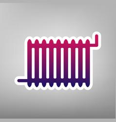 radiator sign purple gradient icon on vector image