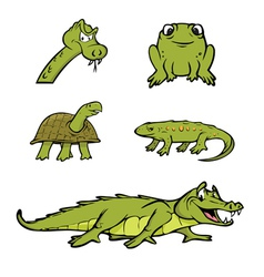 Reptiles collection vector
