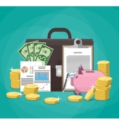 Saving money Business finance nvestment concept vector image