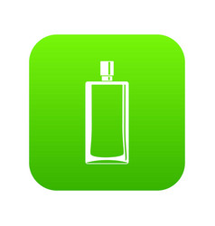 Scent bottle icon digital green vector