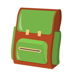 schoolbag school supplies icon and logo isolated vector image