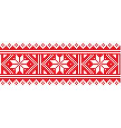 Scottish christmas and winter fair isle pattern vector