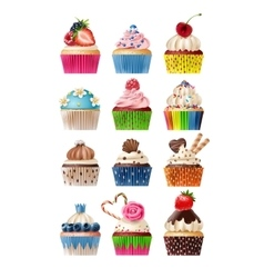 set of icons sweets vector image