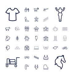 Silhouette icons vector