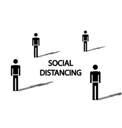 Social distancing concept people prevent covid-19 vector