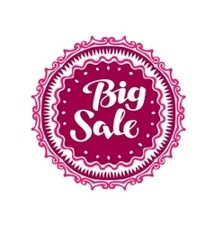 Stamp with text Big Sale written inside Lettering vector image