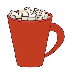 Sugar cubes in mug isolated vector