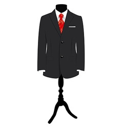 Suit on mannequin vector