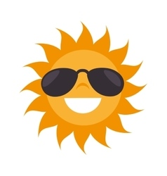 Sun sunglasses summer vector