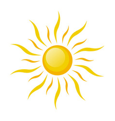 sun symbol icon on white stock vector image