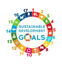 Sustainable development global goals corporate vector