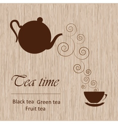 Tea time template vector