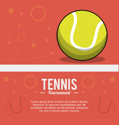 tennis sportball tournament image vector image
