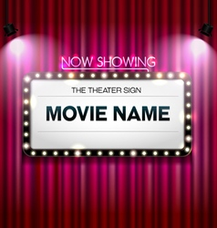Theater sign Showtime Sign Theater cinema Sign vector