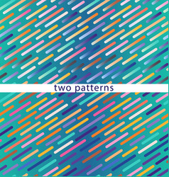 two seamless patterns on a blue gradient vector image