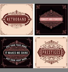 vintage logo template hotel restaurant business vector image